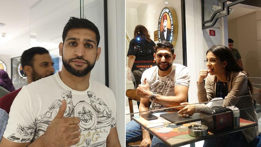 İngiliz boksör Amir Iqbal Khan İstanbul'da