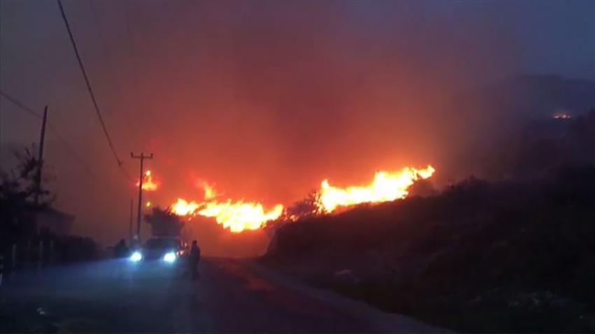 Adadaki yangınla ilgili 2 şüpheli adliyede!