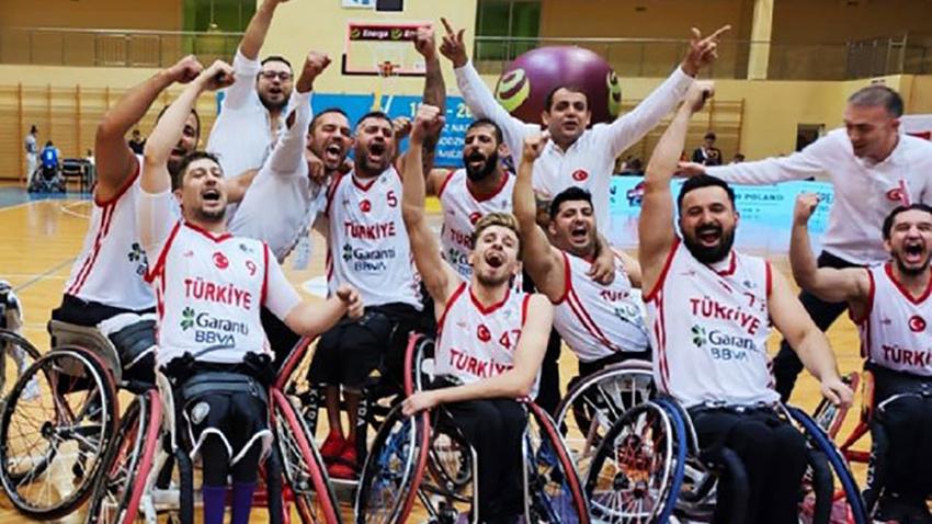 Tekerlekli sandalye basketbolunda A Milliler Avrupa üçüncüsü oldu