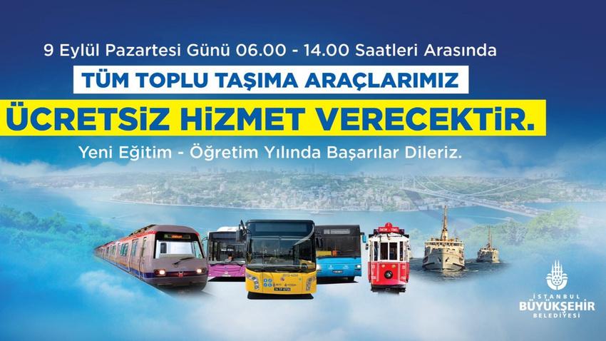 İstanbul'da okulun ilk günü ulaşım bedava!