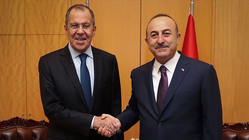 Çavuşoğlu ile Lavrov'dan Suriye görüşmesi