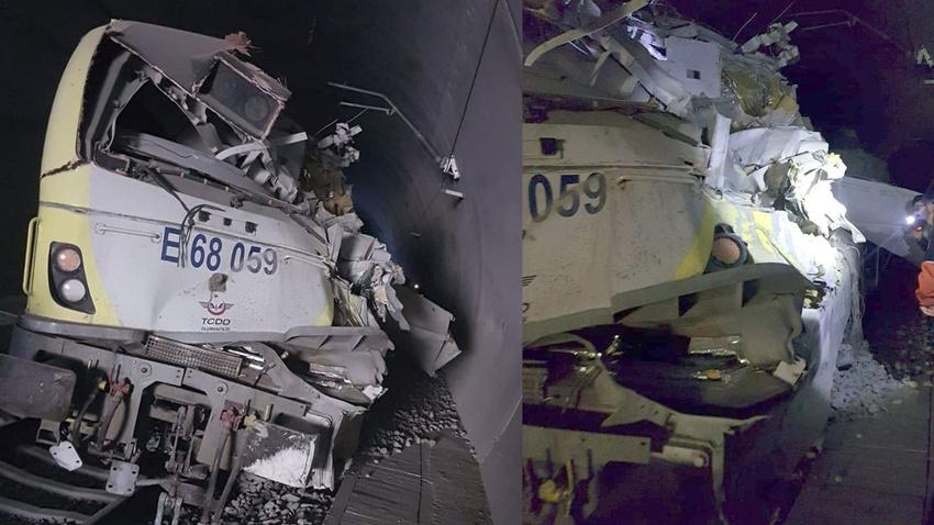 Bilecik'te kılavuz tren tünelde raydan çıktı: 2 ölü