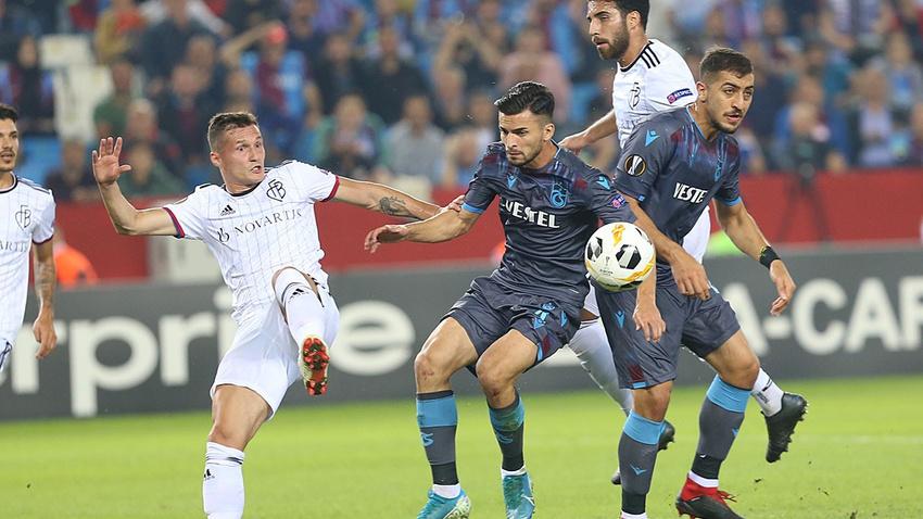 Trabzonspor - Basel: 2-2 maç sonucu