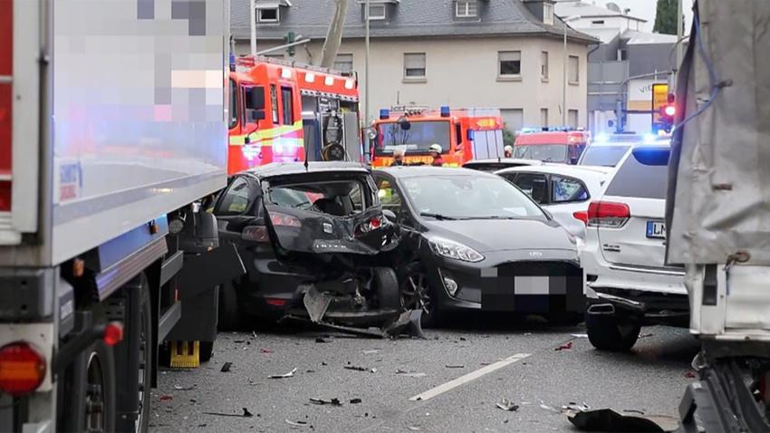 Almanya'da çaldığı kamyonla 8 araca çarpıp 9 kişiyi yaralayan kişi dehşet saçtı