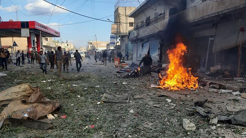 Tel Abyad'da korkunç saldırı: Pazar yerinde bomba patladı