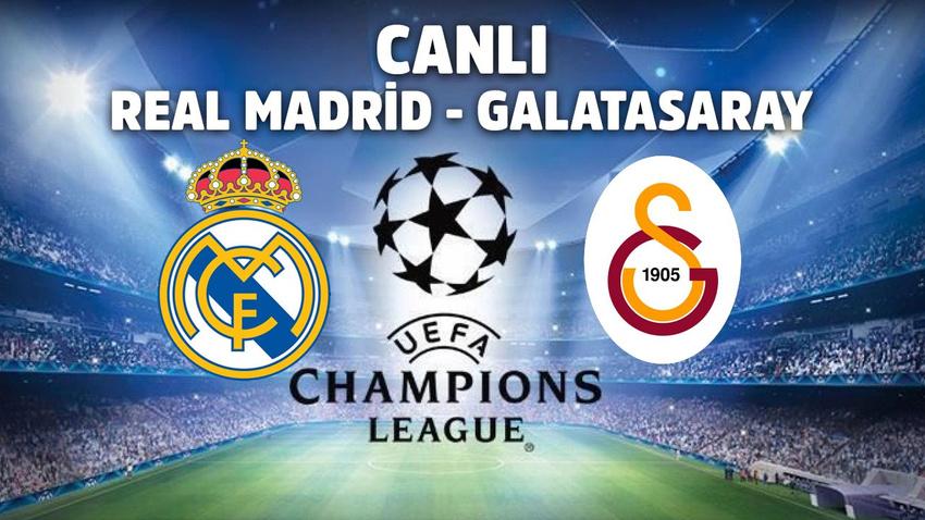 CANLI Real Madrid - Galatasaray