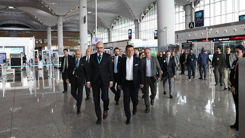 Ekrem İmamoğlu İstanbul Havalimanı'nda incelemelerde bulundu