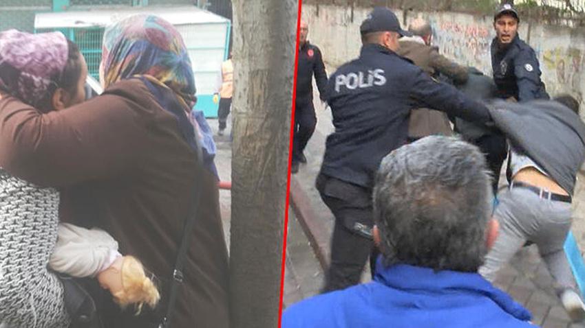 Sultangazi'de hareketli anlar! Polis, ellerinden güçlükle kurtardı!