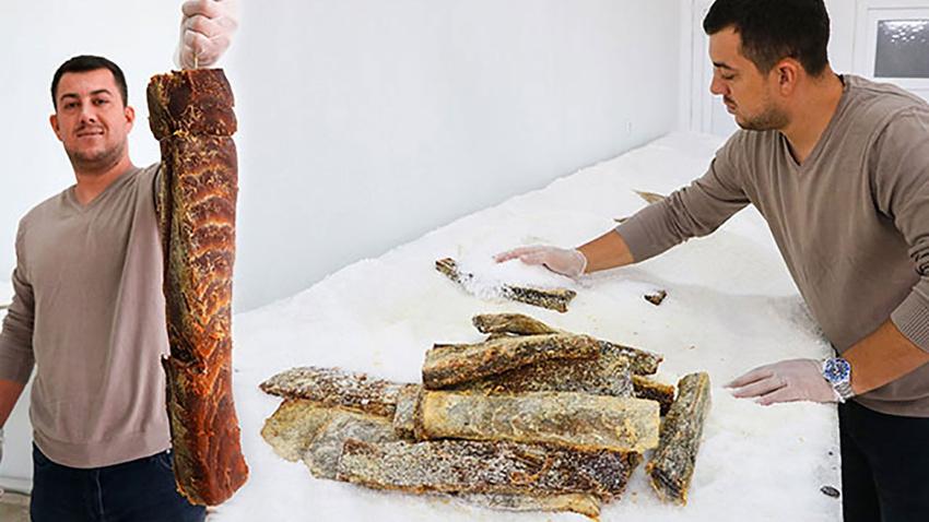 Balık pastırması üretti! Kilosunu 350 lira