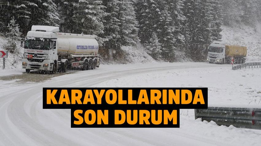 Kar bastırdı, sürücüler zor anlar yaşadı