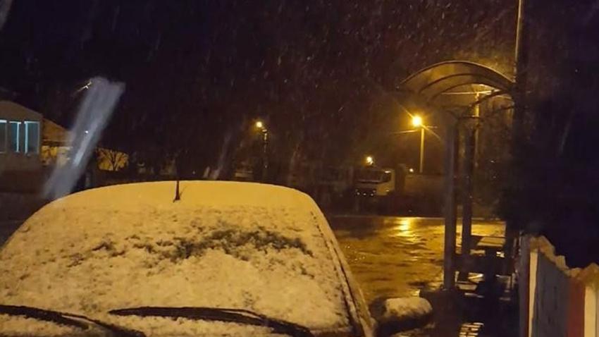 Yer: Edirne, sınır köyler beyaza büründü
