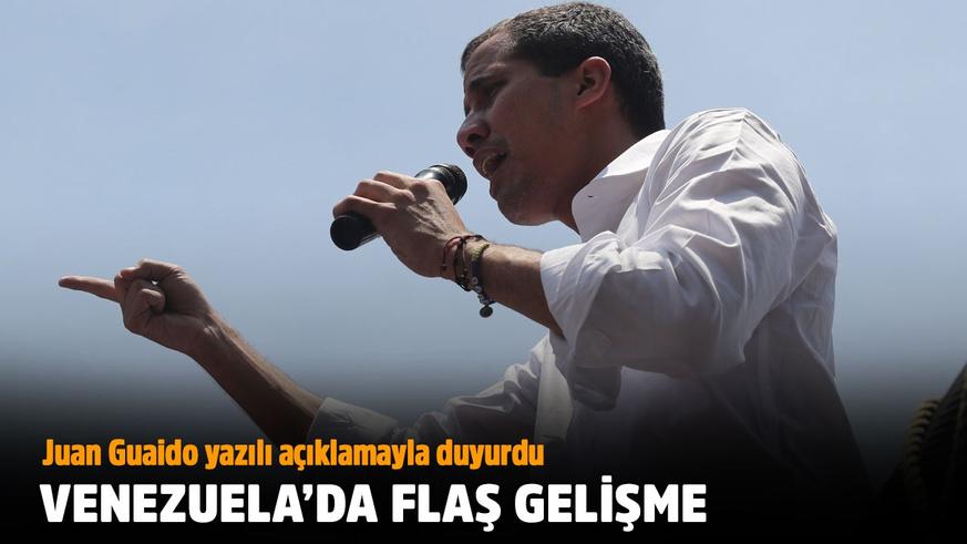 Guaido: Hükümetle müzakere ediyoruz