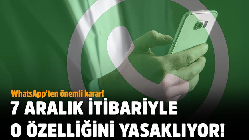 WhatsApp'ten önemli karar!