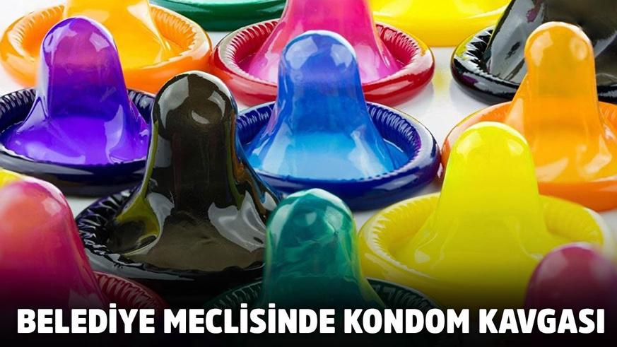 Belediye meclisinde prezervatif kavgası