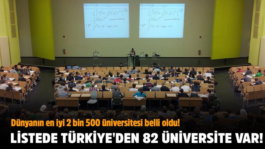 Dünyanın en iyi 2 bin 500 üniversitesi belli oldu!