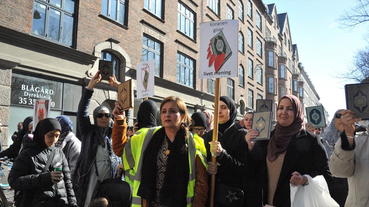 Danimarka'da Kur'an'a saygı yürüyüşü