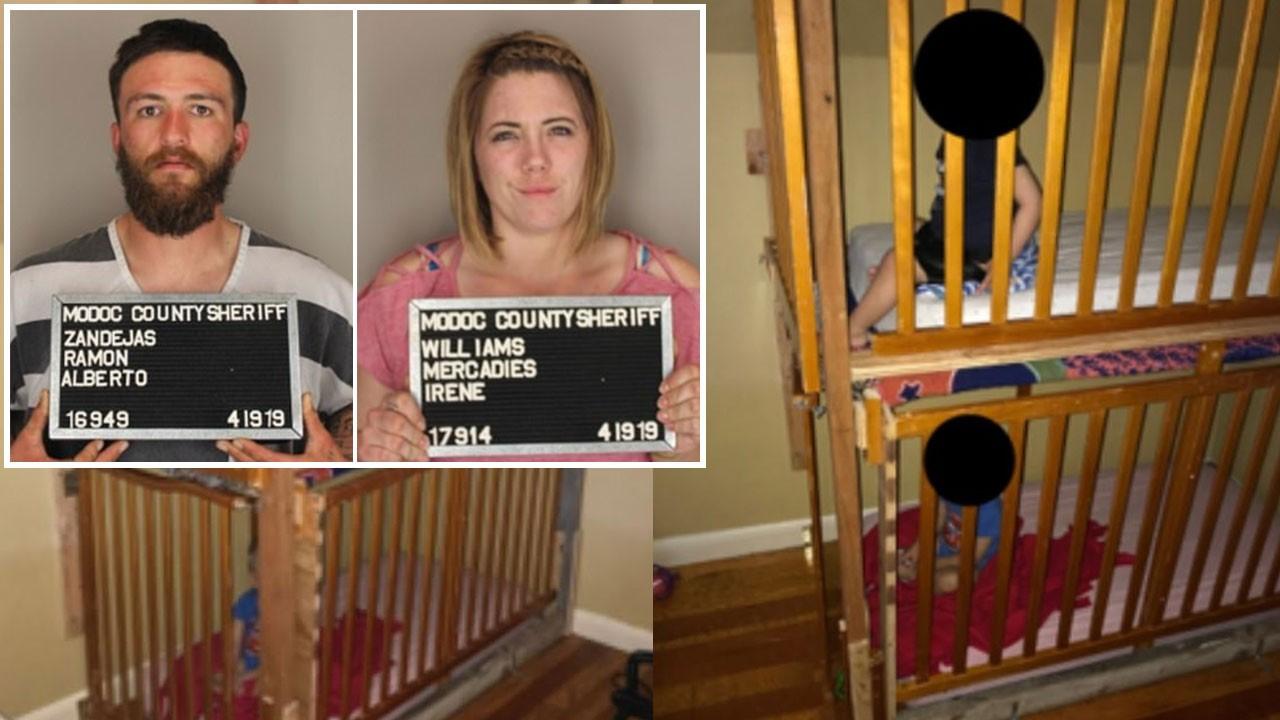 Çocuklarını kafese kilitleyen anne ve baba tutuklandı