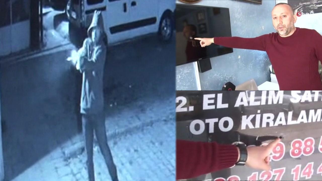 Maltepe'de galerinin silahla tarandığı o anlar...