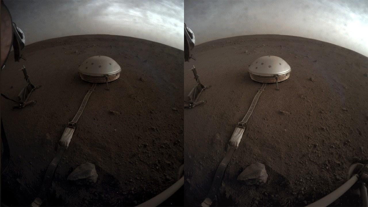 Mars'ta güneşin doğuşu ve batışı görüntülendi