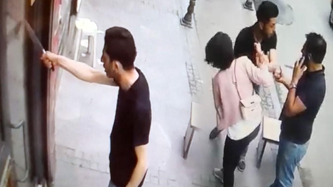 İstanbul'un göbeğinde bıçakla terör estirdi!