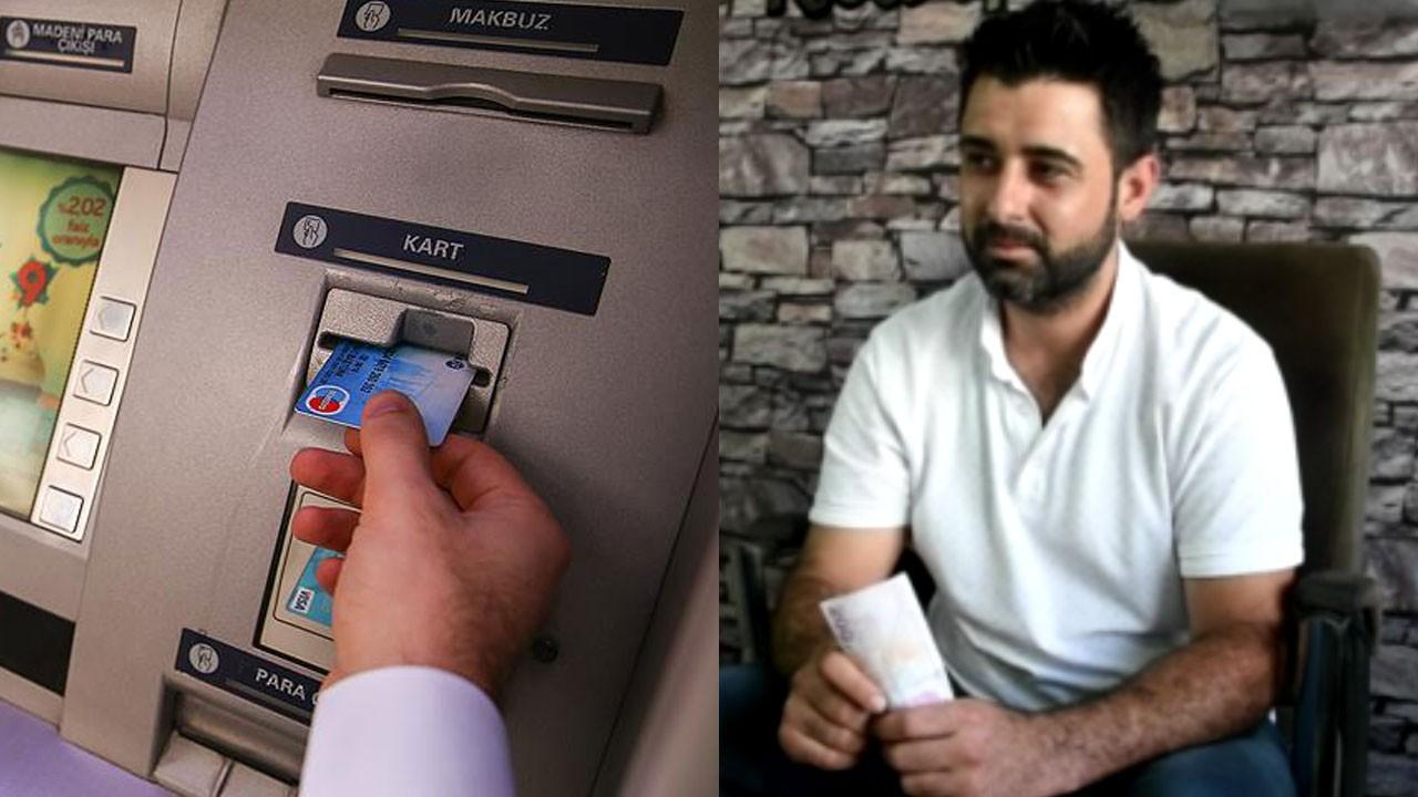 Balıkesir'de ATM'de unutuldu