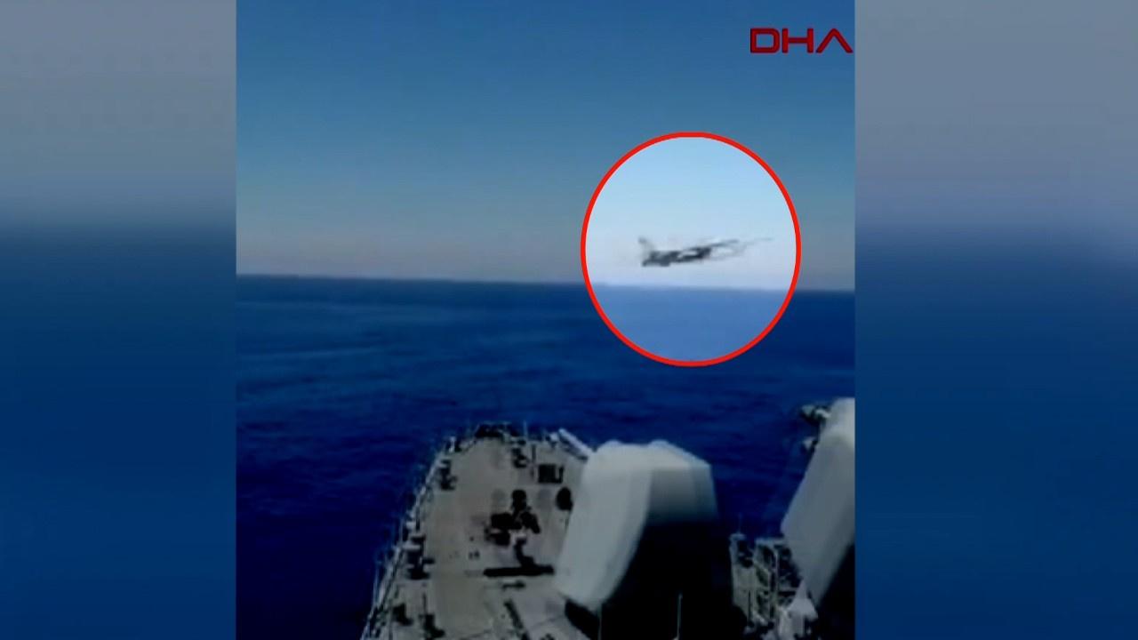 F-16, Yavuz'u böyle selamladı