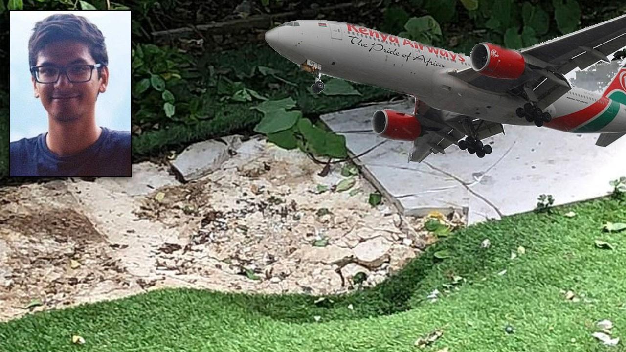İnanılmaz olay! Bahçesine gökten adam düştü!