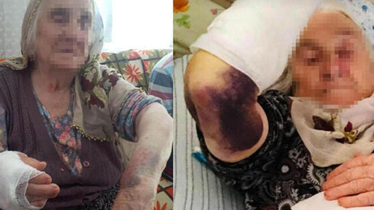Gelin dehşeti! 92 yaşındaki kayınvalidesine sopayla saldırdı