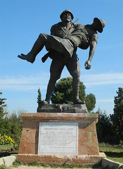 Mehmetçiğe Saygı Anıtı - Gündüz açık hava görünüşü