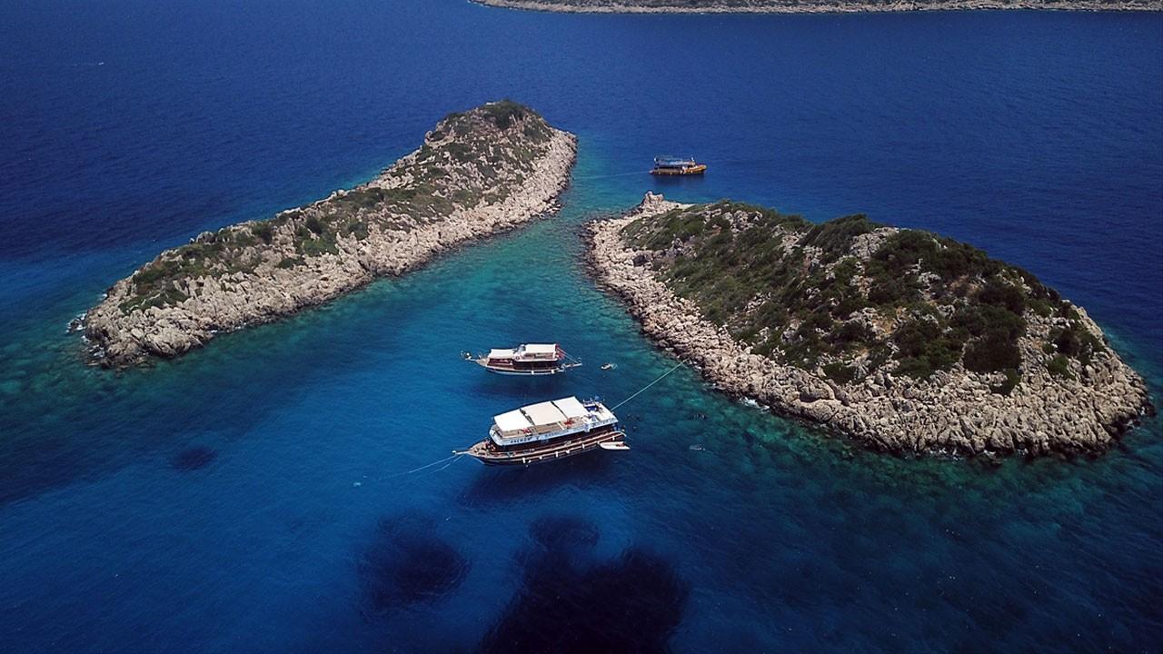 Türkiye'nin tatil cenneti Kaş'a bir de böyle bakın