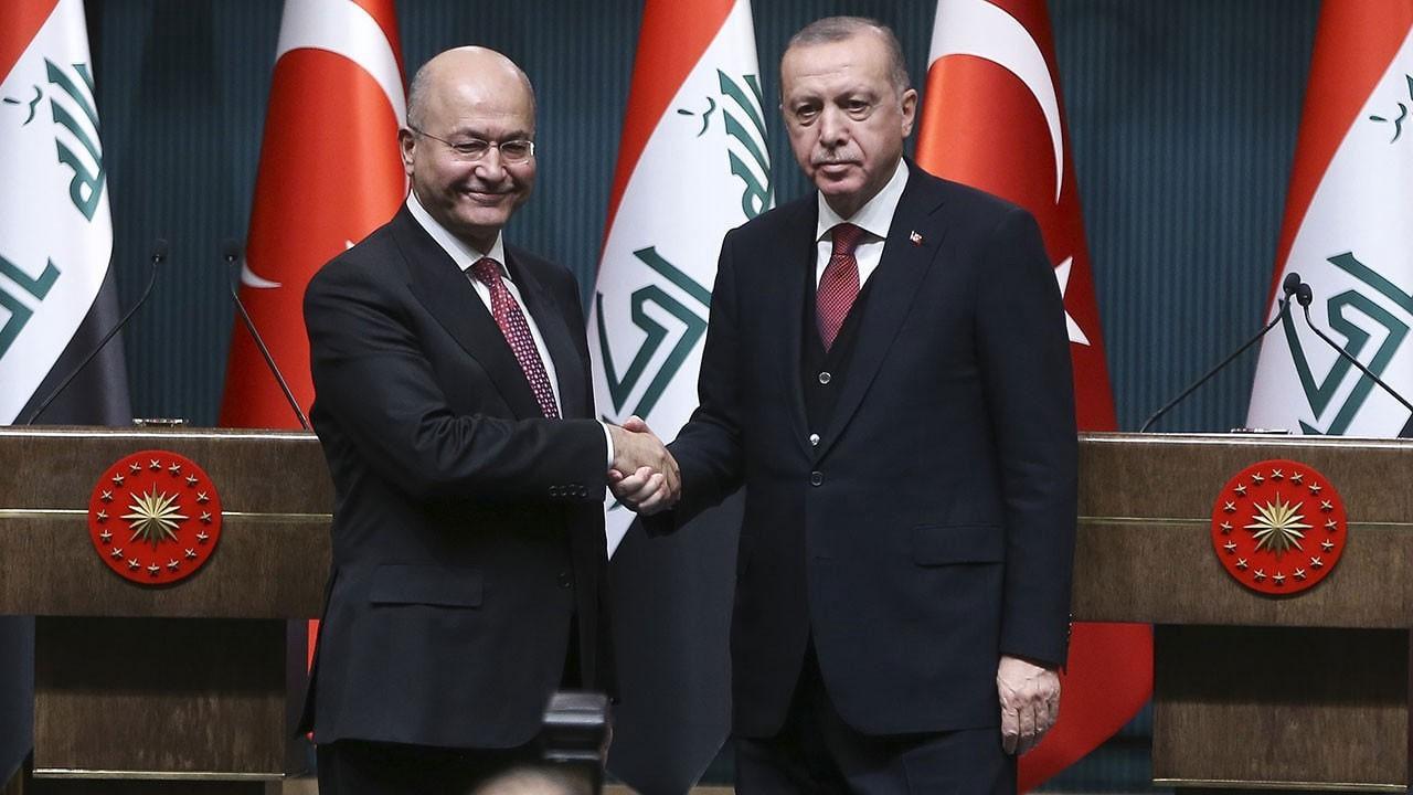 Irak Cumhurbaşkanı'ndan Erdoğan'a taziye telefonu