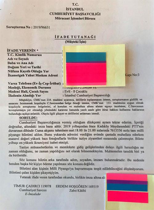CHP milletvekili Mahmut Tanal, talihli olduğunu iddia eden kişinin dilekçesini Twitter'da paylaştı.