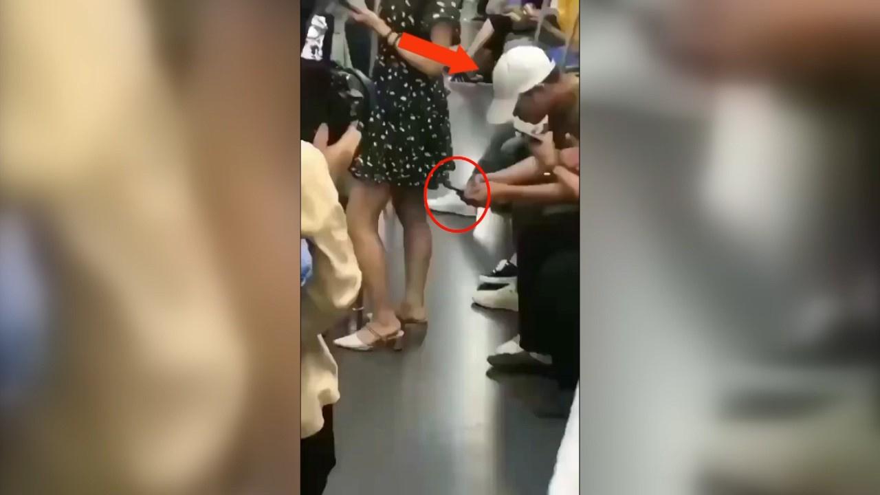 Metro sapığı görüntülendi