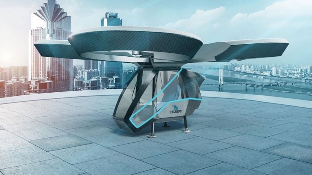 Türkiye'nin ilk milli uçan arabası olacak!.. 'CEZERİ', TEKNOFEST'te görücüye çıkacak!