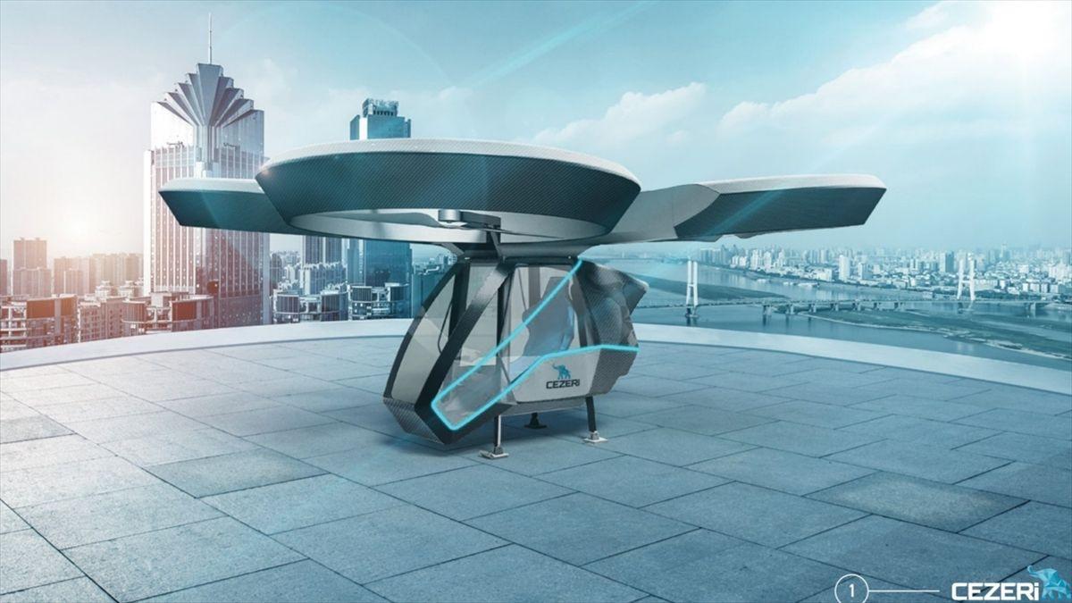 Türkiye'nin ilk milli uçan arabası olacak!.. 'CEZERİ', TEKNOFEST'te görücüye çıkacak! - Sayfa 1