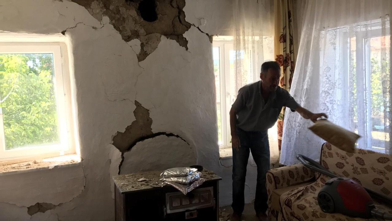 Deprem en çok zararı Tutluca Köyü'ne verdi