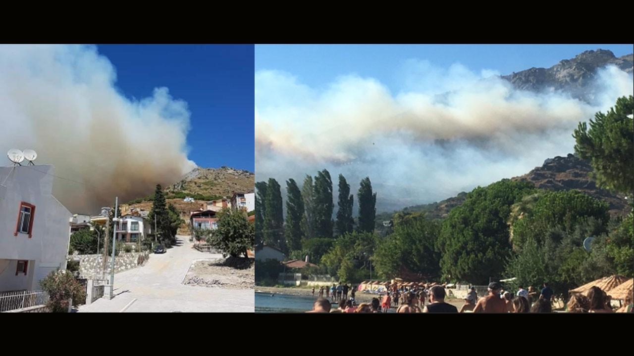 Marmara Adası'ndaki yangın büyüyor