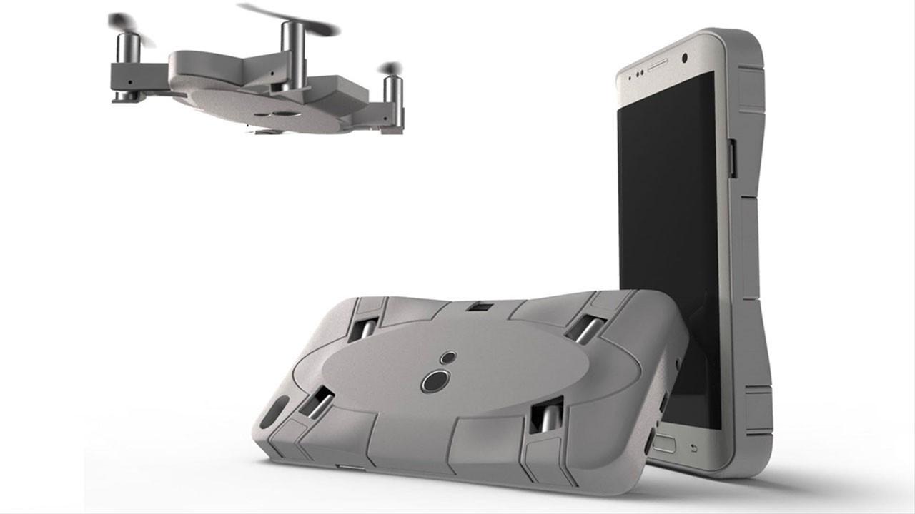 Dünyada bir ilk!..  Hem cep telefonu kılıfı hem drone!