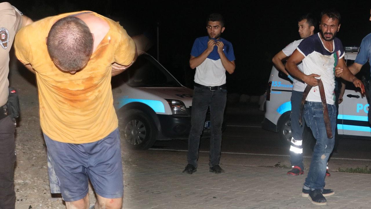 Adana'da satırlı dehşet!..  Neye uğradıklarını şaşırdılar!