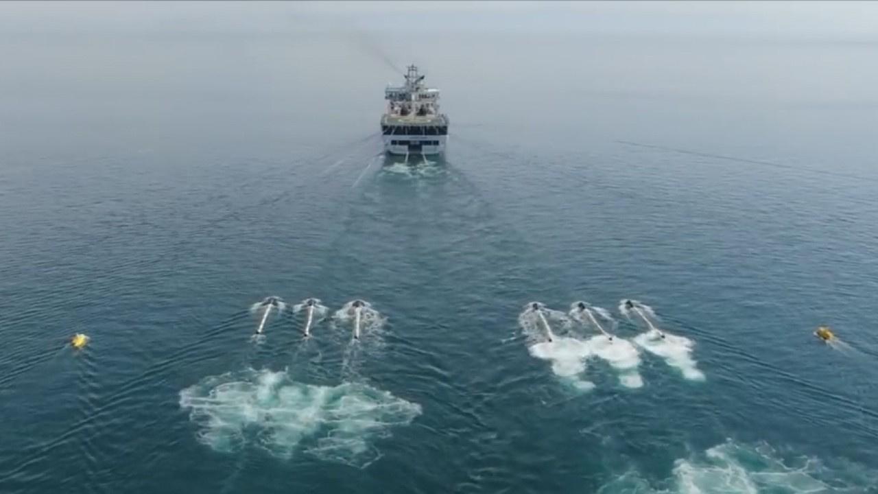 Oruç Reis sondaj gemisine Doğu Akdeniz yolunda hücum botları eşlik ediyor