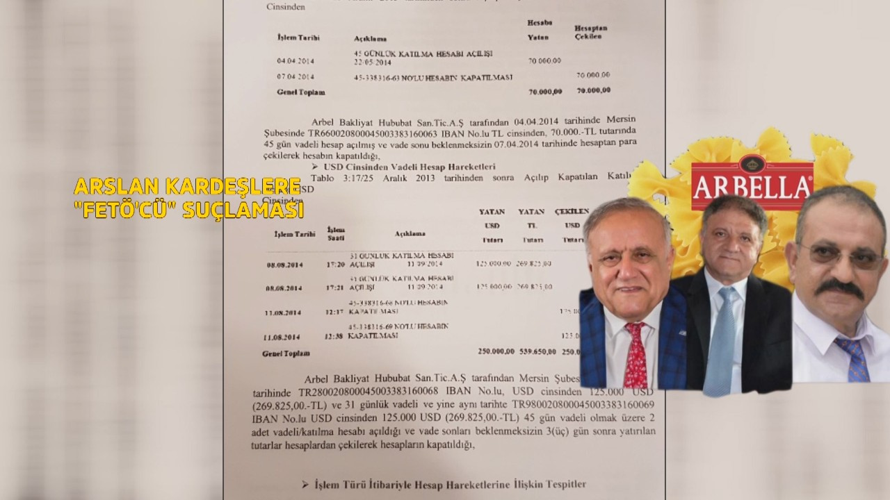 Arslan Kardeşler, FETÖ'nün talimatıyla Bank Asya'ya milyonlar aktarmış