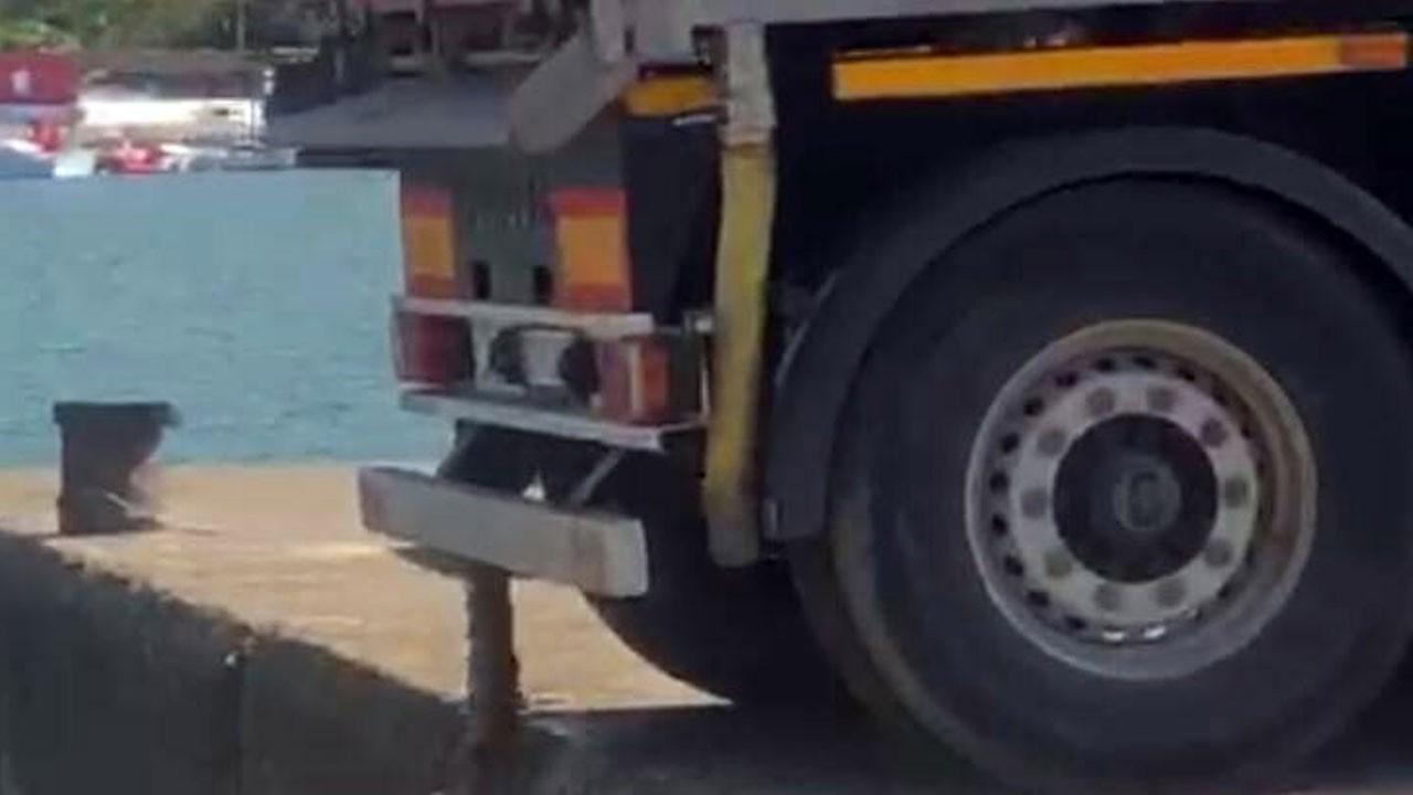 Kamyonla denize atık su boşaltırken yakalandı