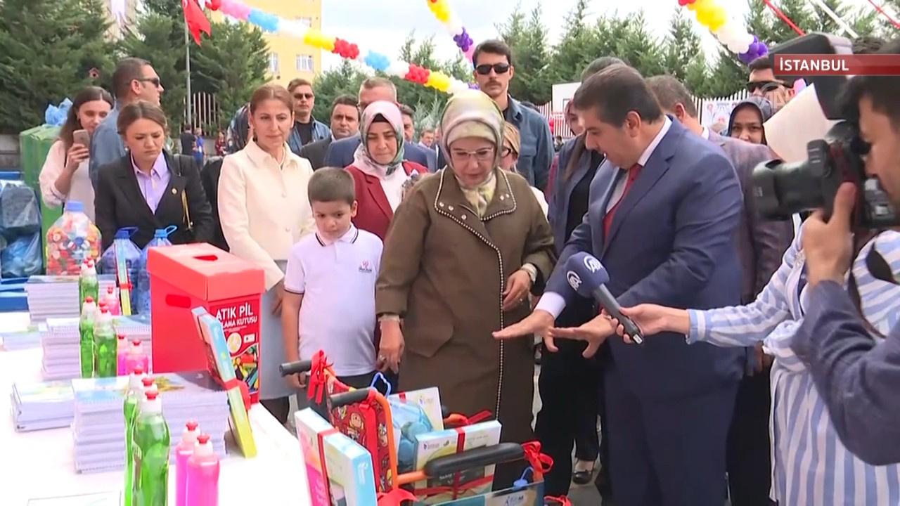 """Emine Erdoğan """"Sıfır Atık Projesi""""ne destek istedi"""