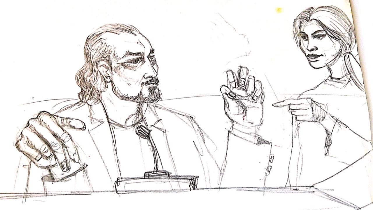 Adnan Oktar'ın duruşmasından çizimler