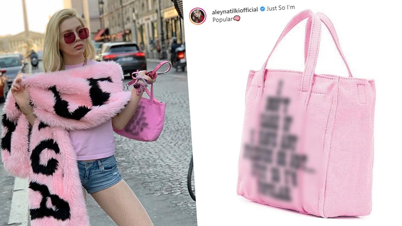 Aleyna Tilki'den çantalı mesaj!