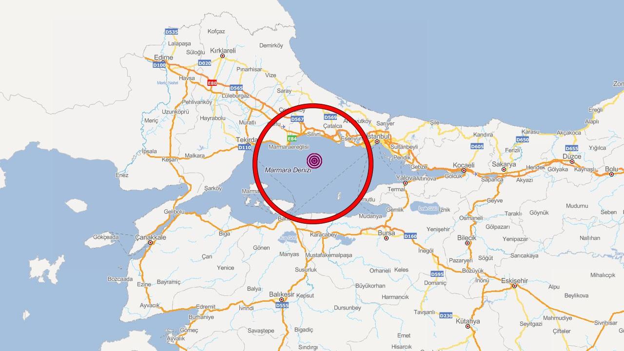 Marmara Denizi'nde art arda deprem!