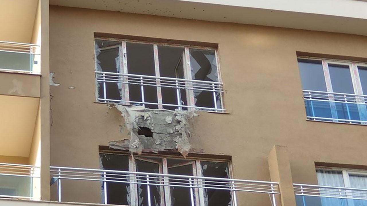 Kamışlı'dan atılan roket Nusaybin'de bir binaya isabet etti