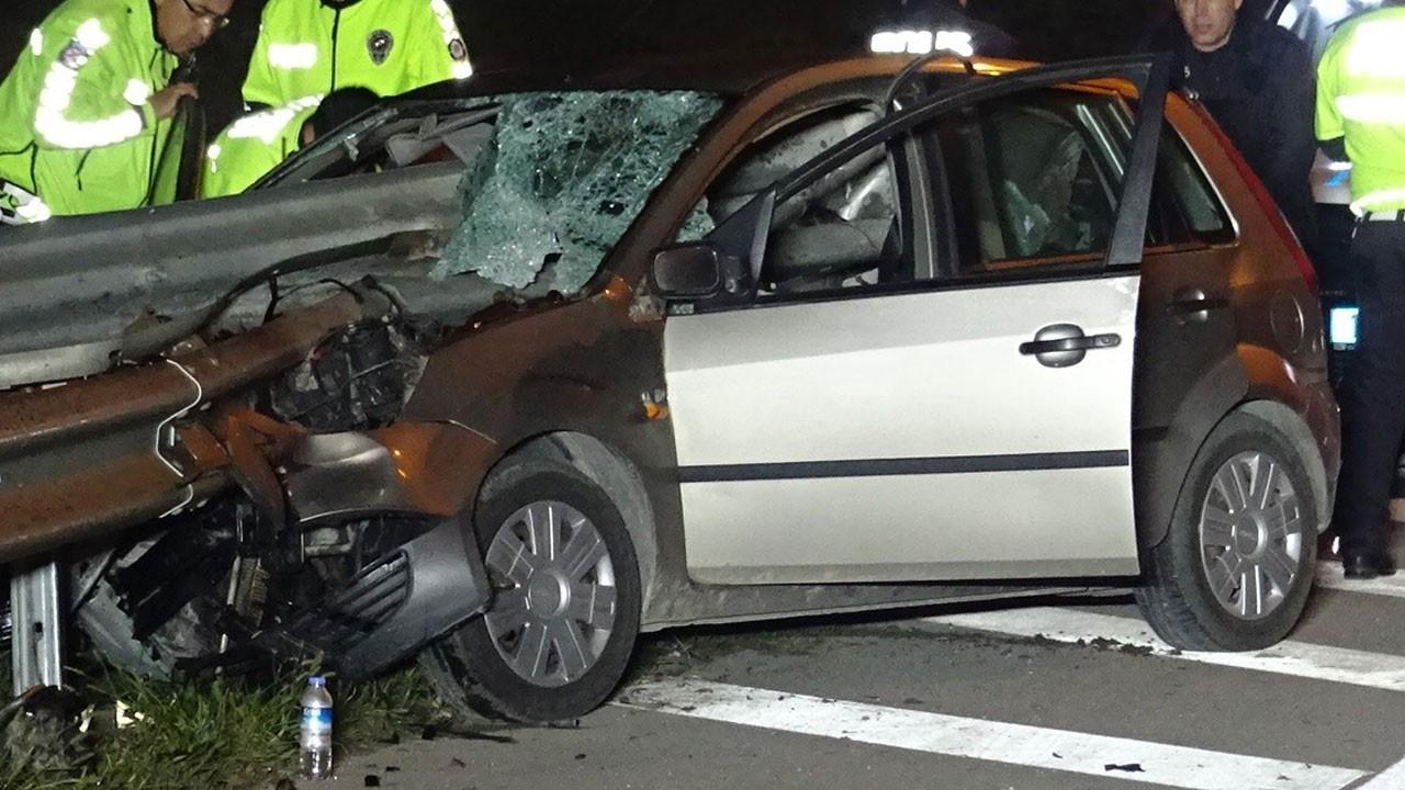 Bursa'da korkunç kaza!.. Kafasına bariyer saplandı!
