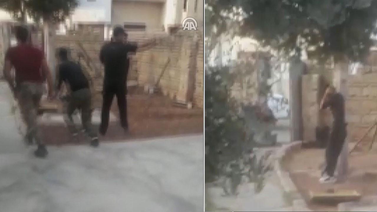Türkiye'ye havanlı saldırı kamerada