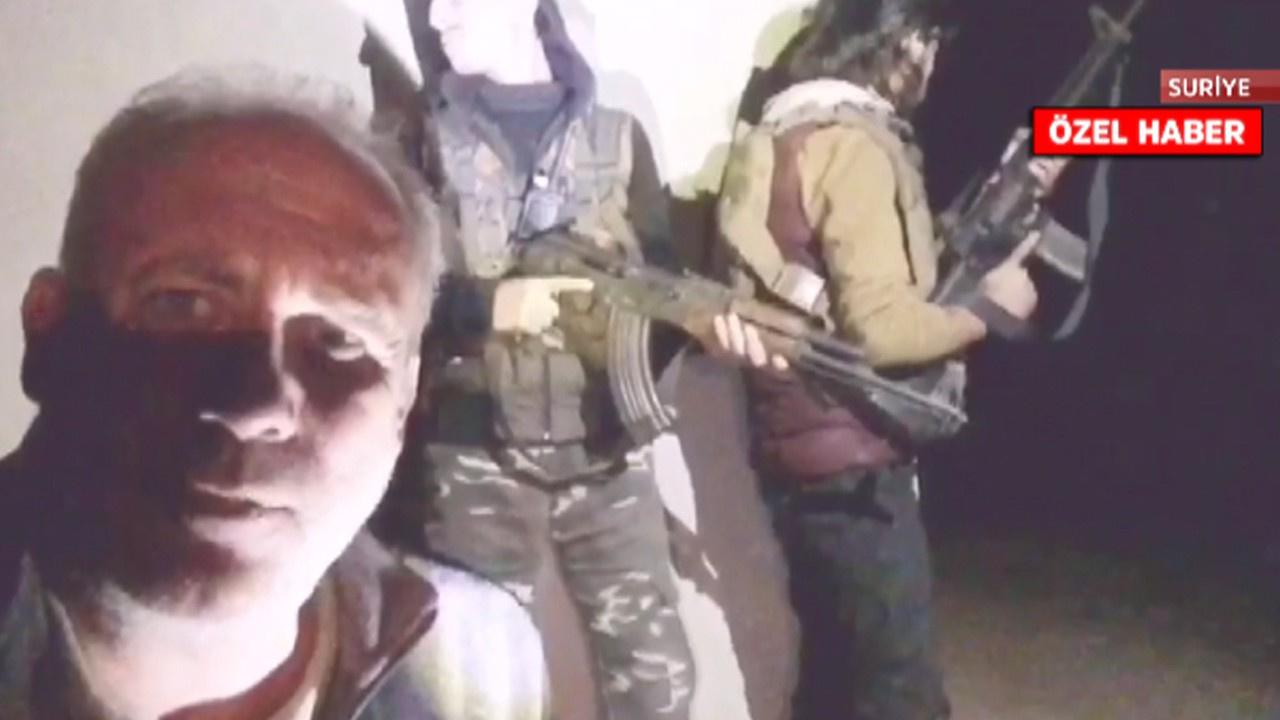 tv100 ekibi Suriye'de sıcak bölgedeydi